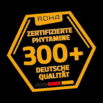 Das Gütesiegel 300+ von ROHA garantiert eine einheitliche Propolis-Qualität